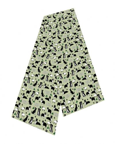 Selina-Jayne Border Collie Dogs Limited Edition Designer Silk Scarf